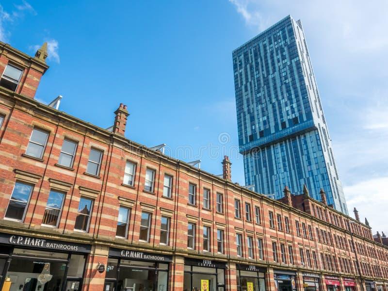 Башня Beetham в Манчестере стоковые изображения rf