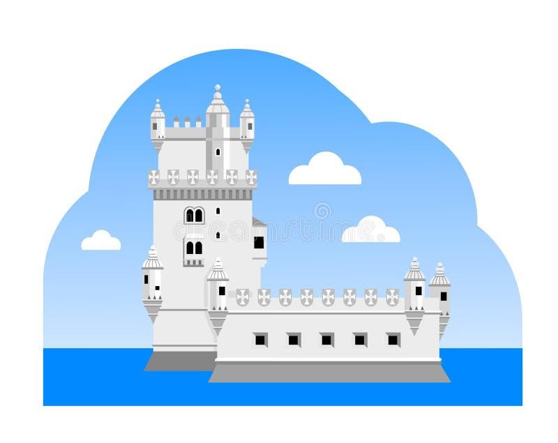 Башня Belem иллюстрация вектора