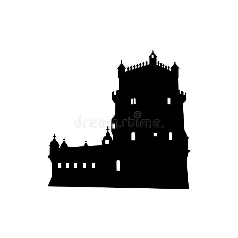 башня belem lisbon Португалии бесплатная иллюстрация