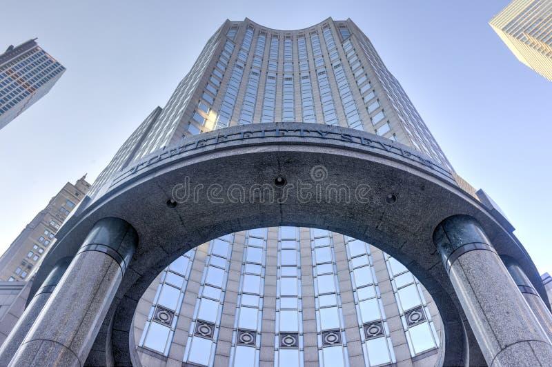 Башня Bloomberg - Нью-Йорк стоковые фотографии rf