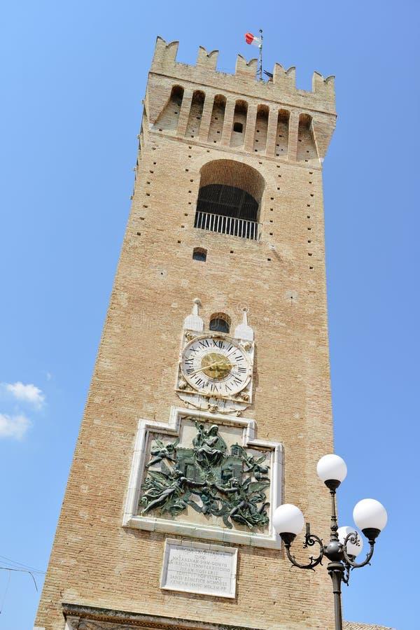 Башня borgo, Recanati Италия стоковое изображение