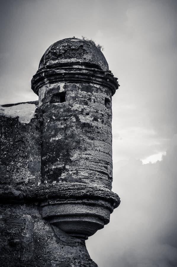 Башня Castillo de San Marcos в Августине Блаженном, Флориде стоковое изображение rf