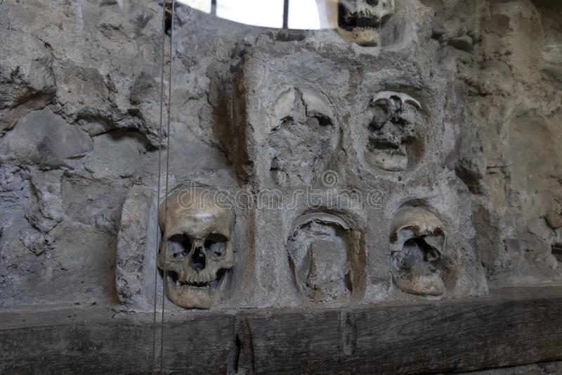 Башня Cele Kula- черепа построила от 3000 черепов мертвых сербских воинов после восстания в 1809 в городе Nis, Сербии стоковое фото rf