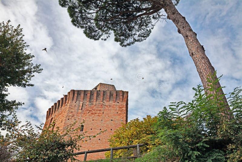 Башня dei Fichi Oriolo в Faenza, эмилия-Романье, Италии стоковые изображения