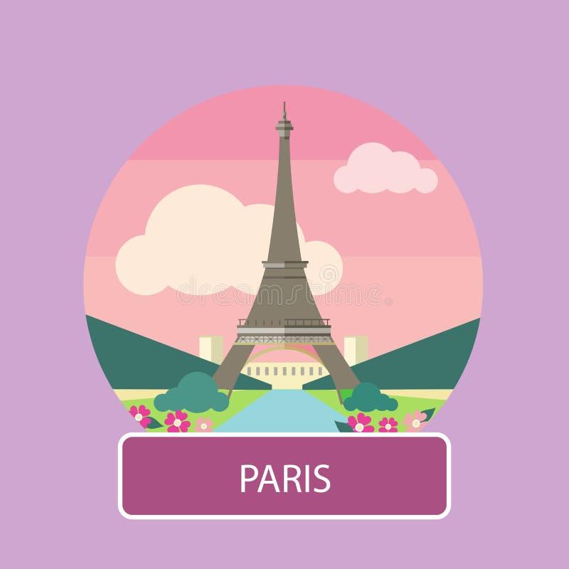 башня eiffel paris Франция иллюстрация штока