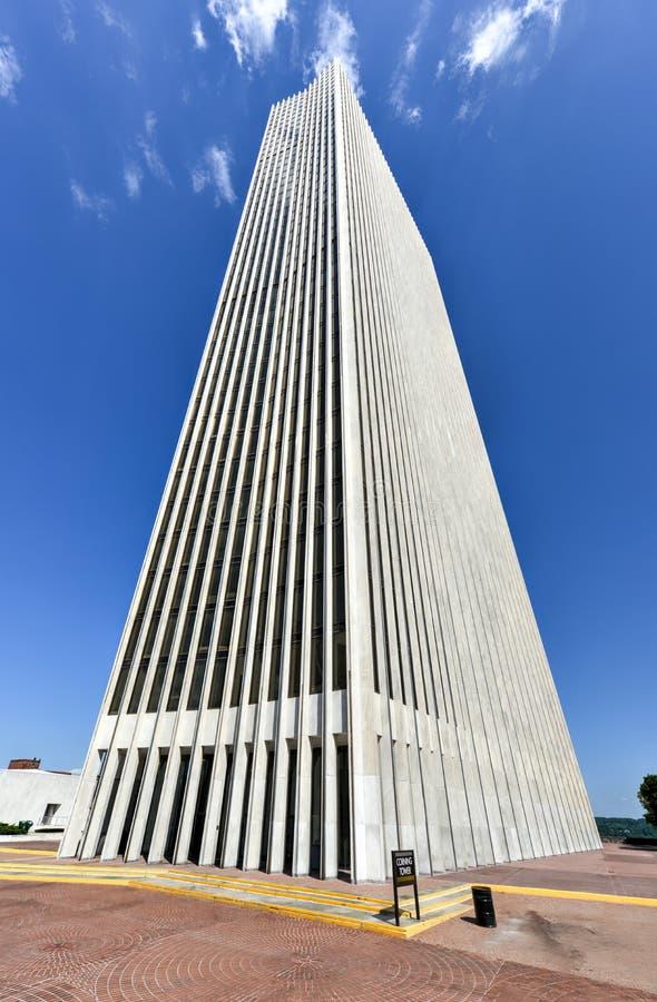 Башня Eratus Corning, Albany, NY стоковые фотографии rf