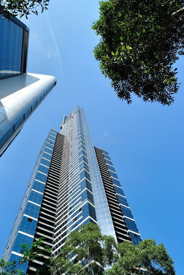 Башня Eureka в городе Мельбурна Австралии стоковые изображения