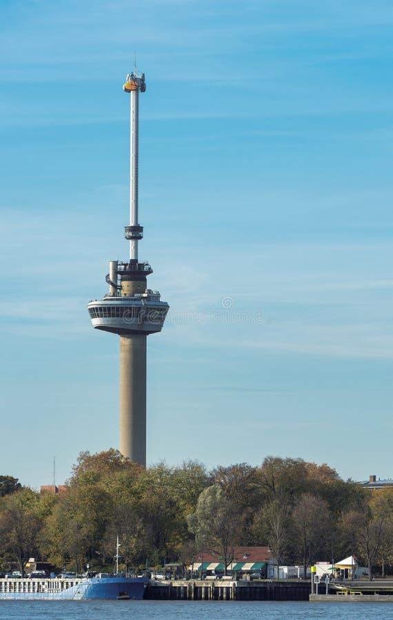 Башня euromast в Роттердаме стоковое изображение