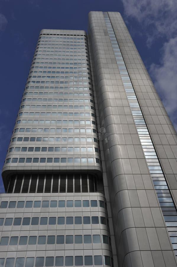 башня frankfurt Германии главная серебряная стоковое изображение