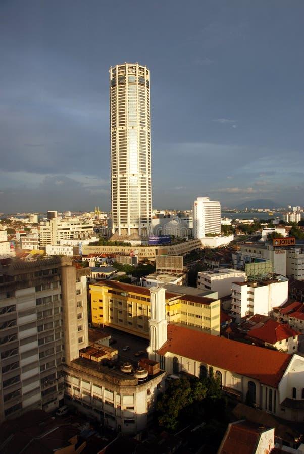 башня georgetown komtar Малайзии стоковые изображения rf