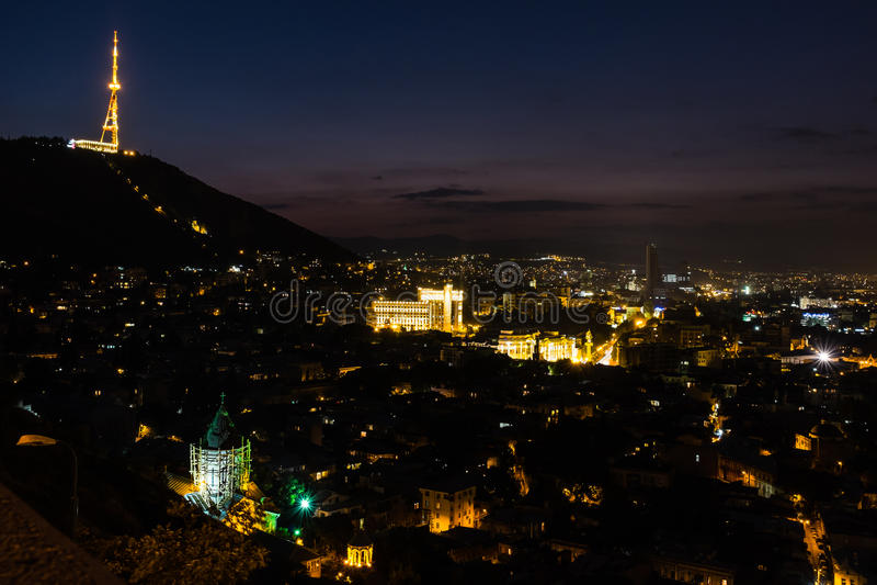 Башня Georgia Европа ТВ Тбилиси стоковое фото
