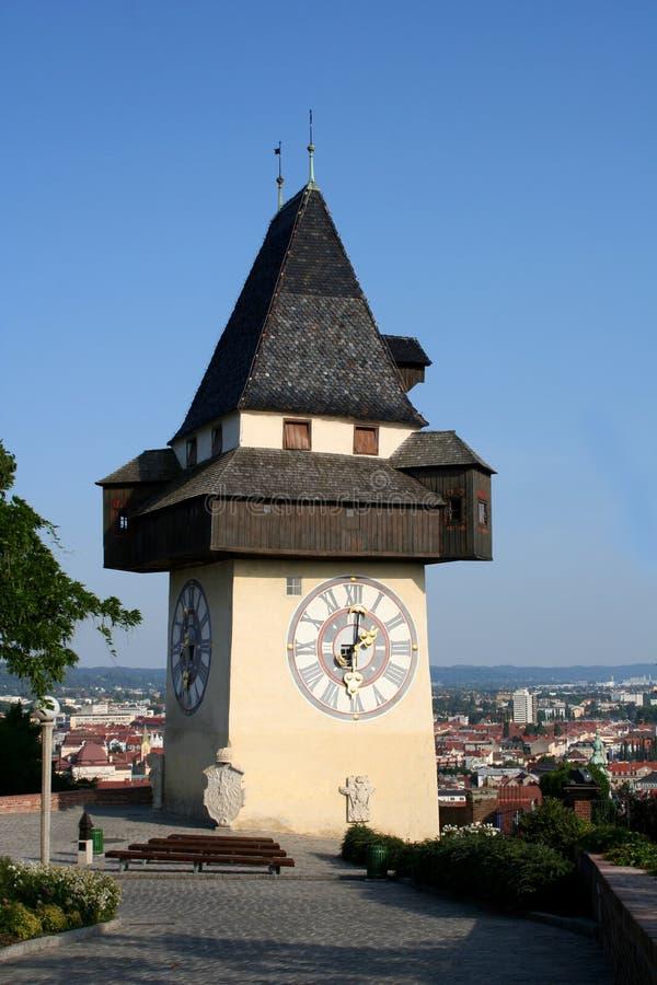 Download башня graz часов стоковое изображение. изображение насчитывающей строя - 479087