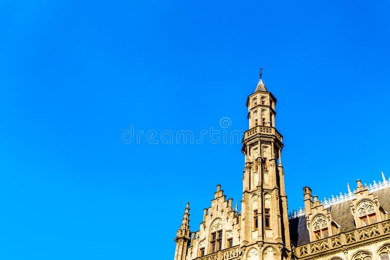 Башня Historium исторического здания которое теперь расквартировывает Historium, исторической реконструкции Waterhalle средневеко стоковая фотография
