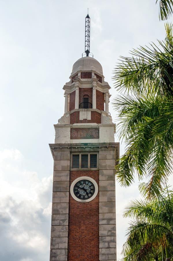 башня Hong Kong часов стоковое изображение rf