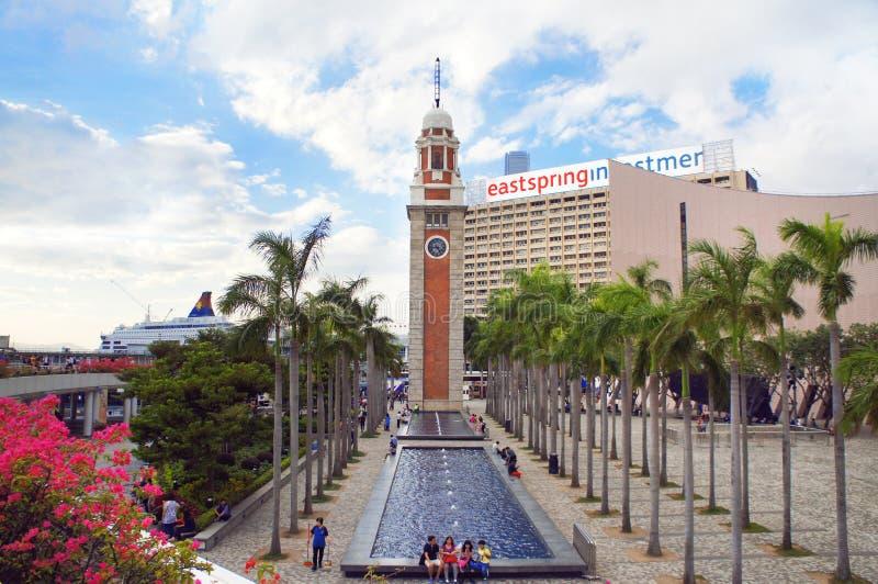 башня Hong Kong часов стоковые фотографии rf
