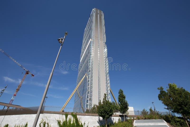 Башня Isozaki в комплексе ` городской жизни ` в месте милана 3 Torri, современных зданиях и кондо, Италии стоковое фото rf