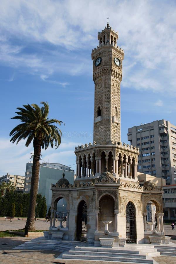 башня izmir часов стоковое изображение