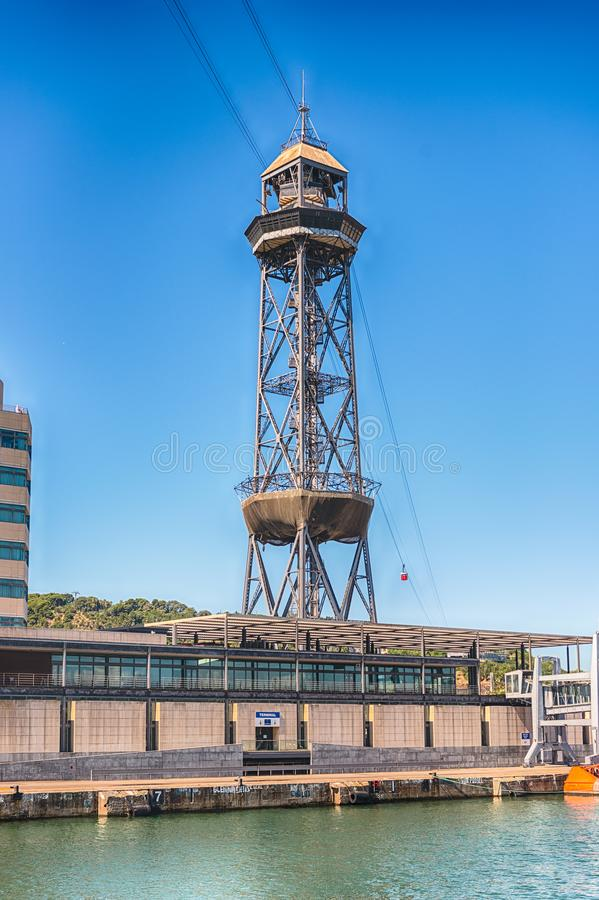 Башня Jaume i, порт Vell Барселоны, Каталонии, Испании стоковое фото