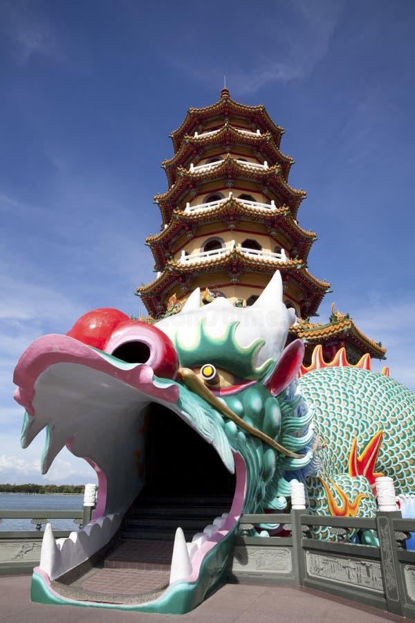 башня kaohsiung дракона стоковая фотография