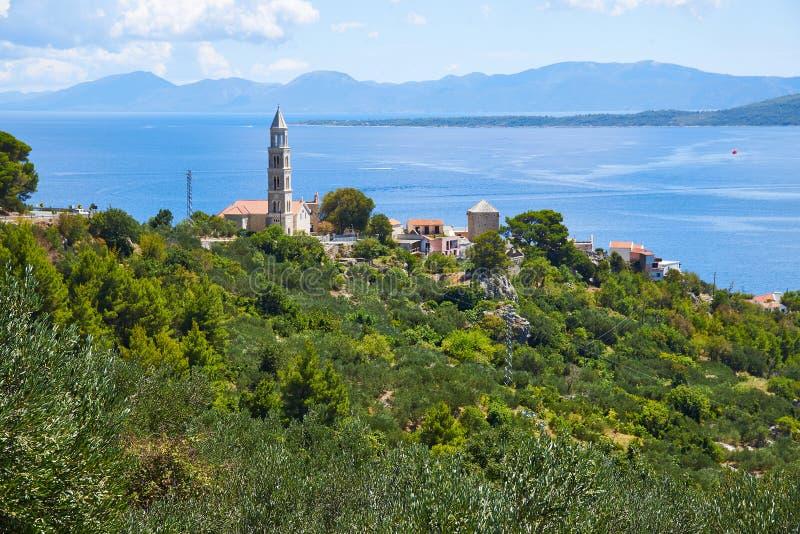 Башня Kula Zale в Igrane, Хорватии стоковые фотографии rf