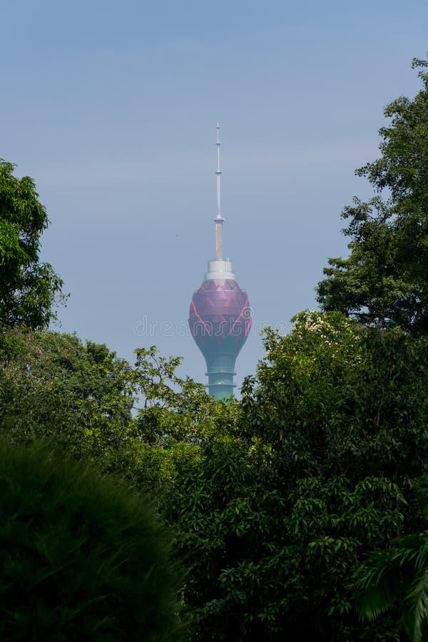 Башня Lothus в Коломбо Шри-Ланка стоковые изображения rf