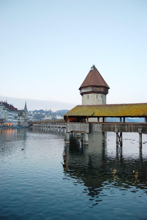 башня lucerne стоковая фотография rf