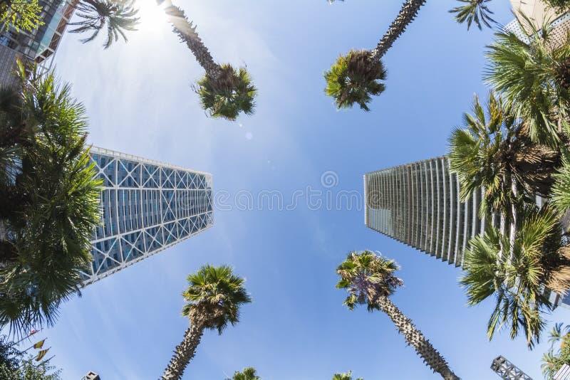 Башня Mapfre и гостиница искусств, олимпийский порт Барселоны, Испании стоковое изображение