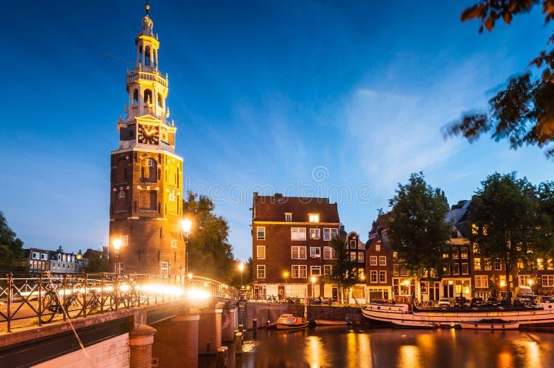 Башня Montlebaanstoren, Амстердам стоковые фотографии rf