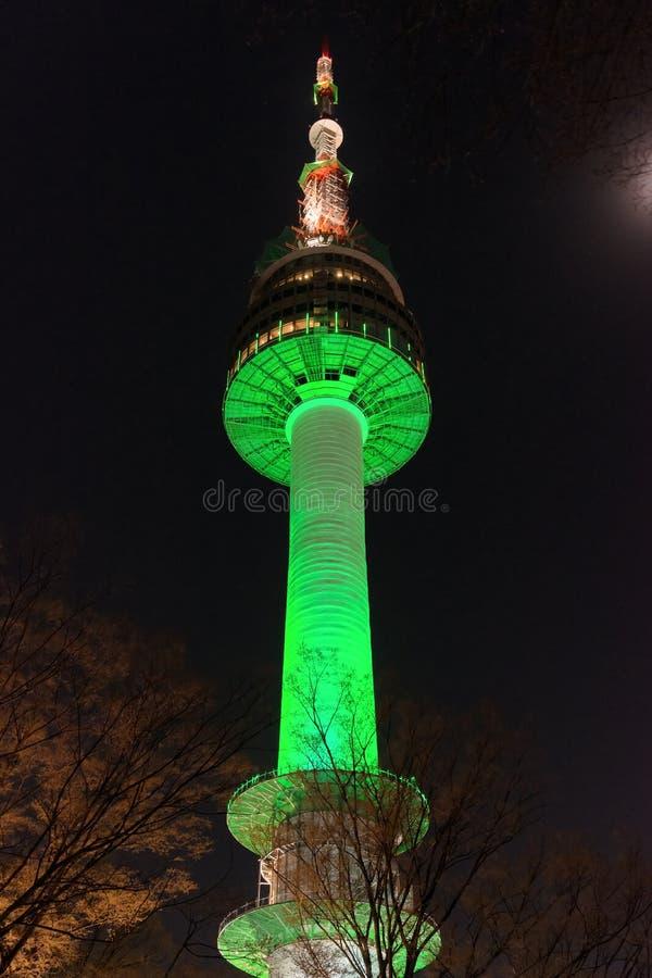 Башня n Сеула стоковая фотография rf