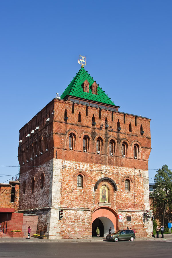 башня novgorod kremlin dmitrovskaya nizhny стоковое изображение