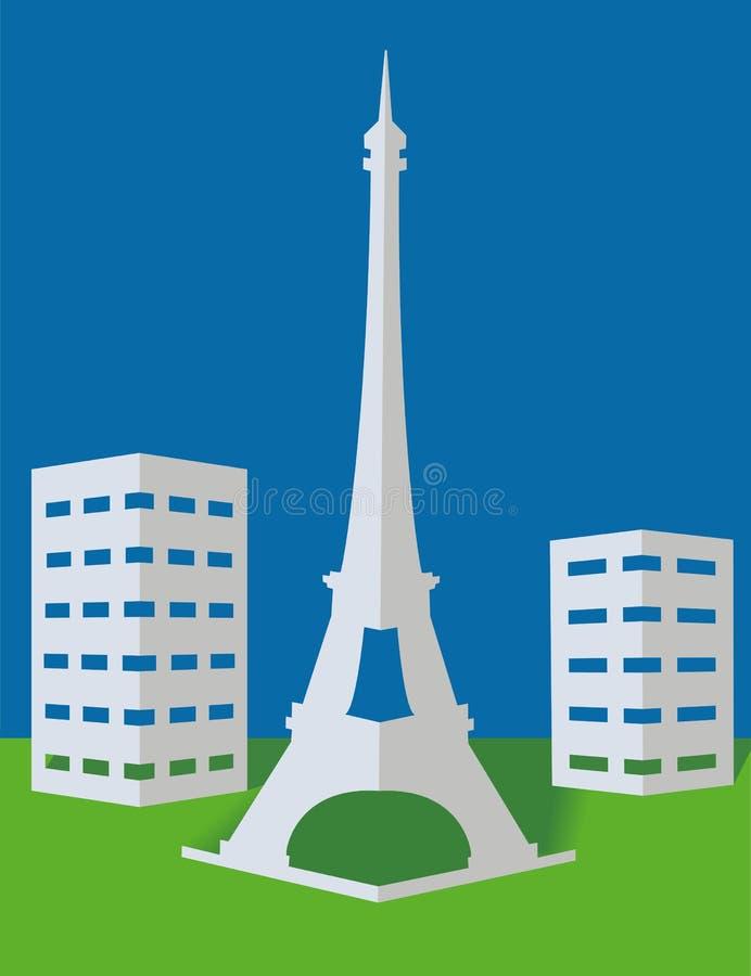 башня paris иллюстрация штока