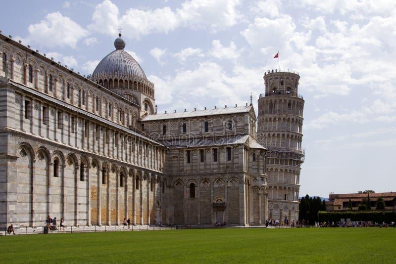 башня pisa собора стоковая фотография