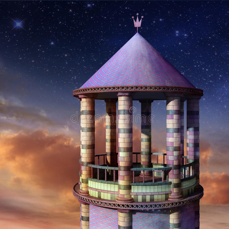 башня rapunzel иллюстрация вектора