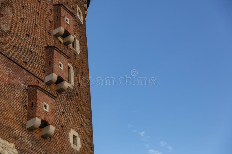 Башня Sandomierska на замке Wawel, Cracow стоковое фото