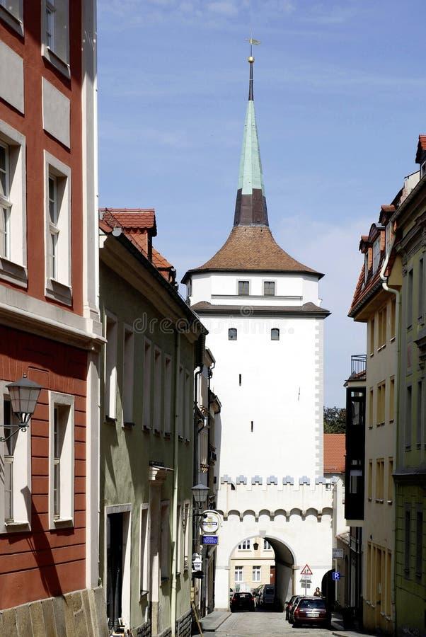 Башня Schuelerturm Баутцена в Германии стоковое фото