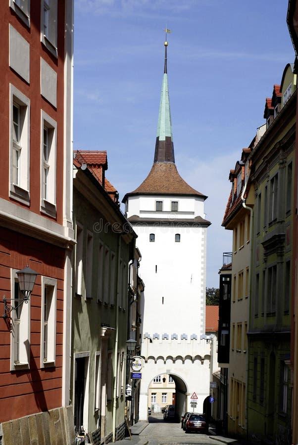 Башня Schuelerturm Баутцена в Германии стоковые фотографии rf