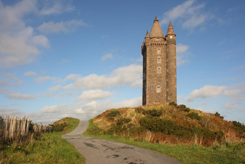 башня scrabo стоковое фото