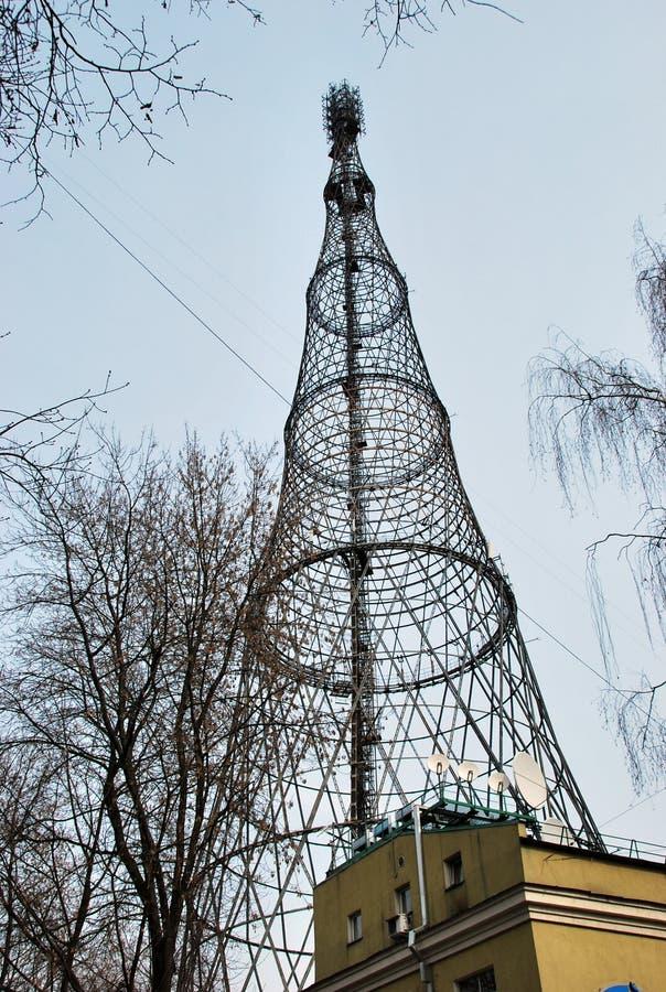 Download Башня Shukhovsky на Shabolovka в Москве Стоковое Изображение - изображение насчитывающей телевидение, строя: 40576249