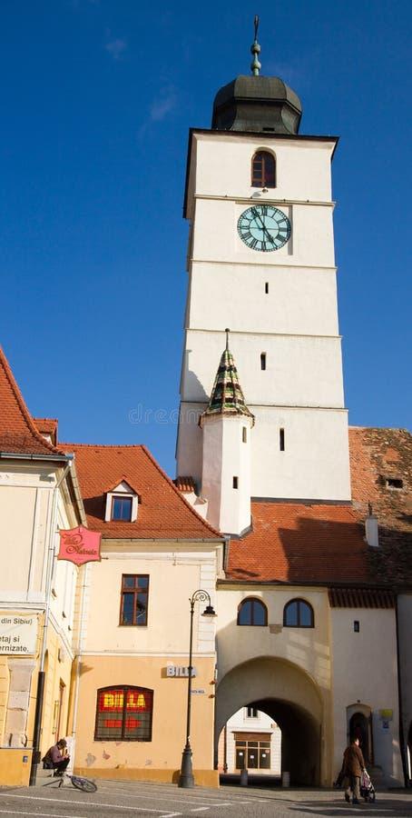 башня sibiu совету стоковое фото rf