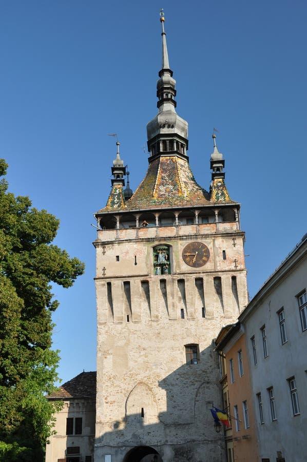 Башня-Sighisoara часов, Румыния стоковое изображение