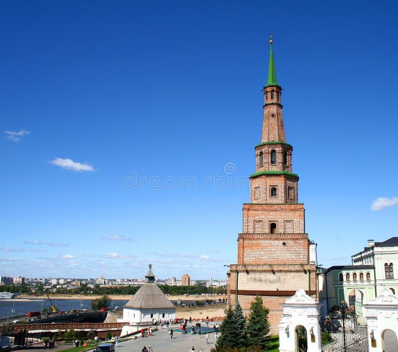 башня soyembika kazan России стоковое изображение