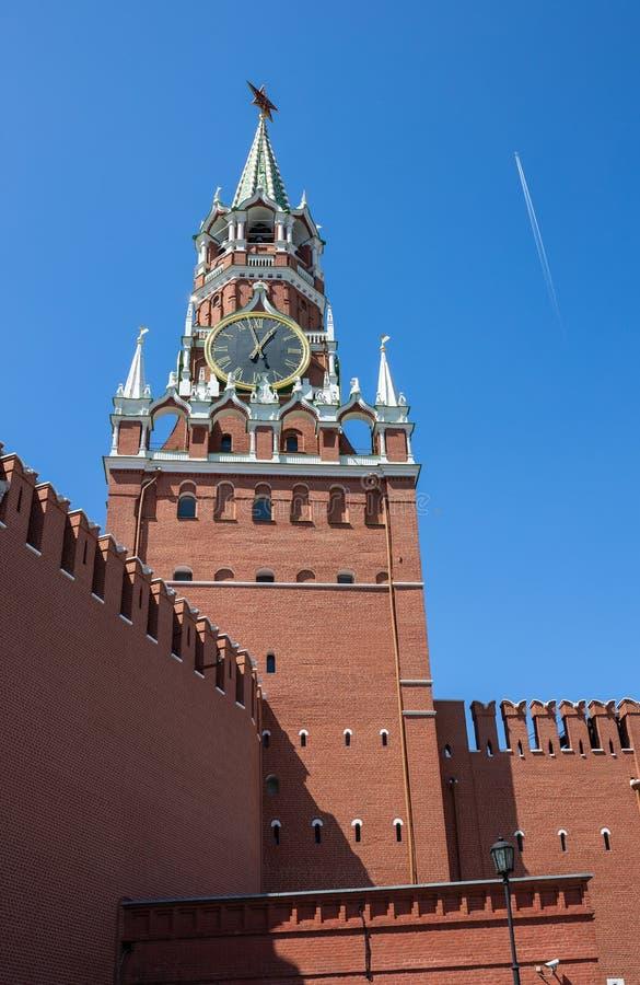 Башня Spasskaya Москвы Кремля стоковое фото rf