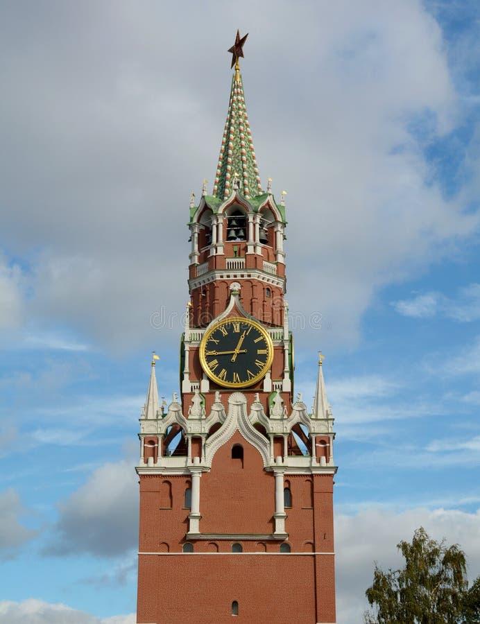 башня spasskaya kremlin moscow стоковое изображение rf