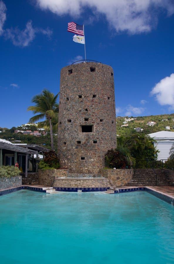 башня st thomas blackbeards стоковое фото