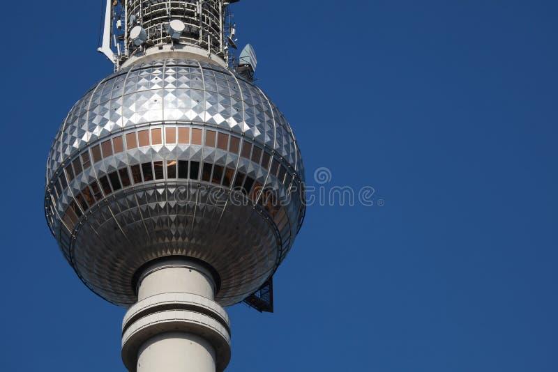 башня tv berlin стоковая фотография