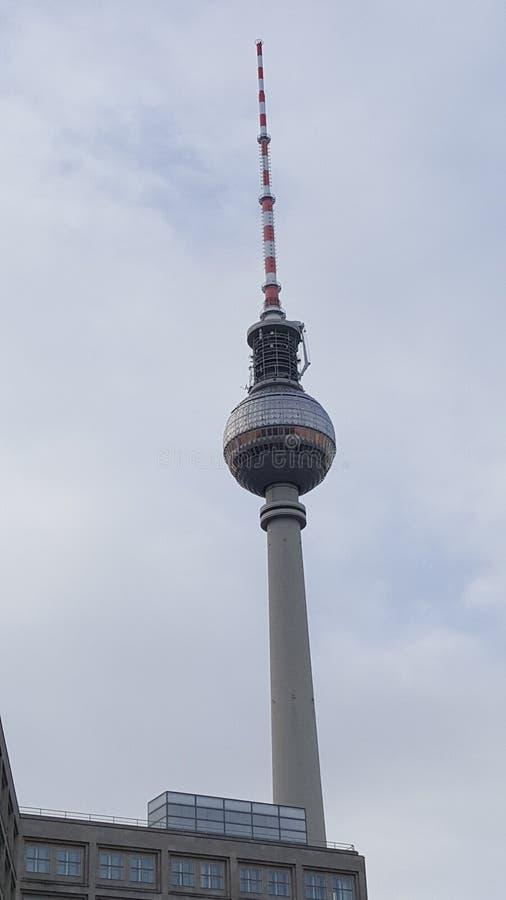 башня tv berlin стоковое изображение