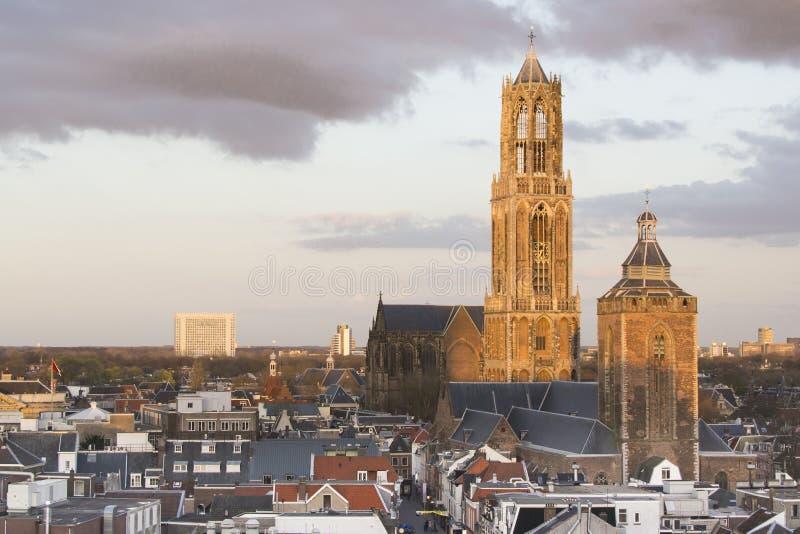 Башня Utrecht Dom, Нидерланды стоковые изображения rf