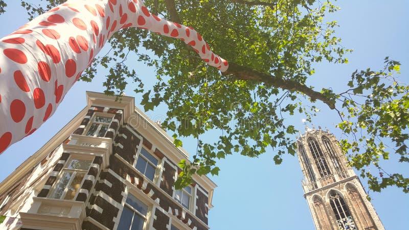 Башня Utrecht Dom, старт Тур-де-Франс стоковые изображения rf