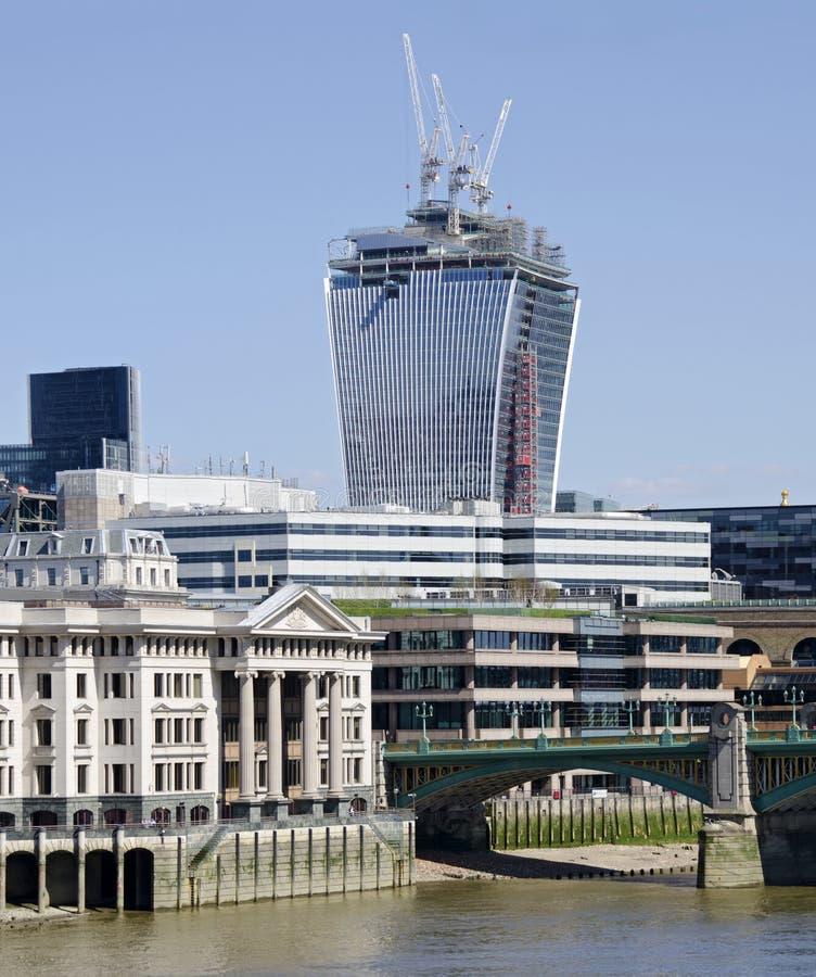 Башня Walky Talky высокая под конструкцией, Лондоном стоковое изображение
