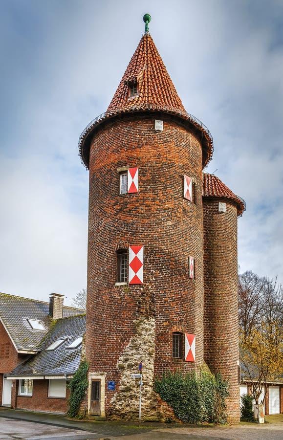 Башня Wedemhoveturm, Borken, Германия стоковые фотографии rf